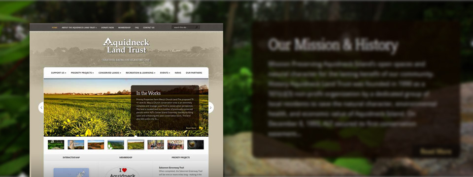 Aquidneck Land Trust | Website Redesign