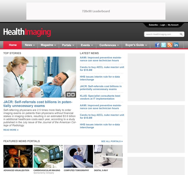 Health Imaging Website Design