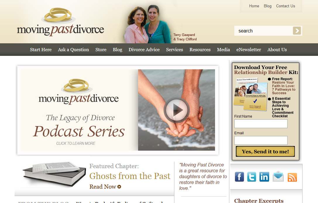 Moving Past Divorce | Logo & Website Design