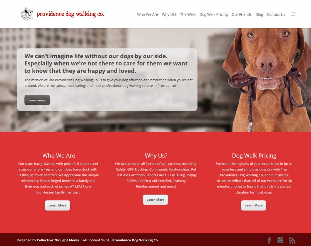 Providence Dog Walking Co. Website
