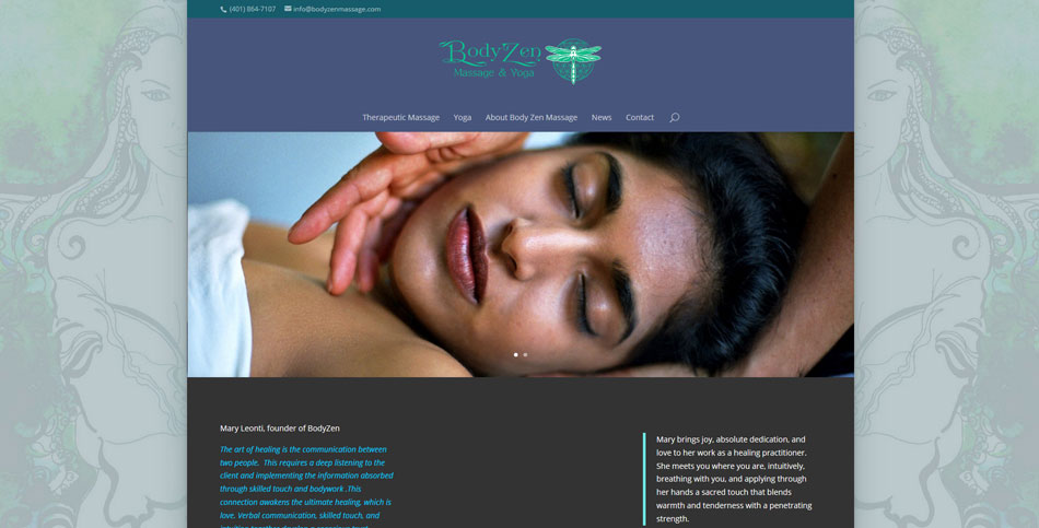 BodyZen Massage Website Design